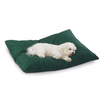 Supersoft Rectangular Max Dog Pillow Color: Hunter Green Solid, Size: Large (40 L x 30 W)