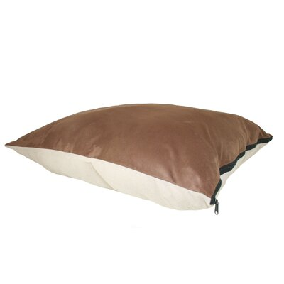 Supersoft Rectangular Ultra Sherpa Dog Pillow Color: Poly-Suede Tan / Chocolate Berber, Size: Large (40 L x 30 W)