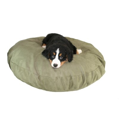 Supersoft Round Dog Pillow Size: Medium (27 L x 27 W), Color: Poly-Suede Sage
