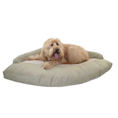 Bolster Dog Bed Color: Gray/Oatmeal Berber