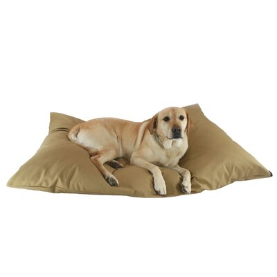Supersoft Rectangular Max Dog Pillow Color: Khaki Solid, Size: Extra Large (48 L x 36 W)
