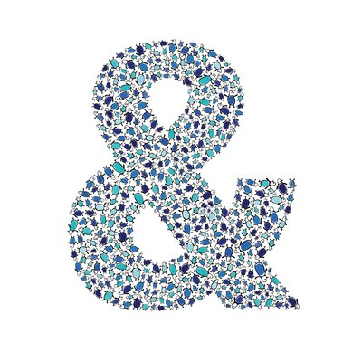 Lotsa Alphabet Art Penguins Ampersand Wall Decor