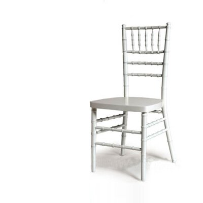 Advanced Seating Armless Chiavari Stacking Chair - Finish: White