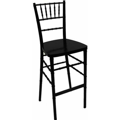 Chiavari 30 Bar Stool Upholstery: Black