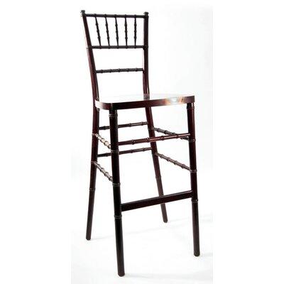 Chiavari 30 Bar Stool Upholstery: Mahogany