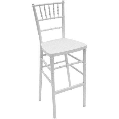 Chiavari 30 inch Bar Stool Upholstery: White