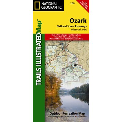 National Geographic Maps Trails Illustrated Map Ozark National Scenic Riverways at Sears.com