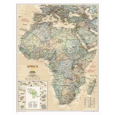 Africa Executive Wall Map (tubed) National Geographic Maps