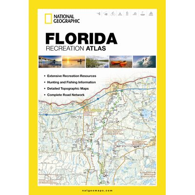 Alabama State Recreation Atlas National Geographic Maps