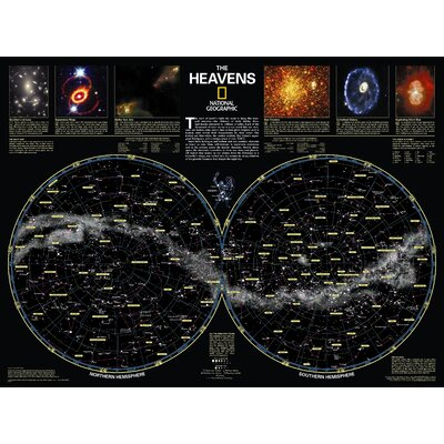 "The Heavens Poster Map Map Type: Standard (23"" x 30"") RE00602060"