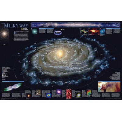 "The Milky Way Poster Map Map Type: Standard (20"" x 31"") RE00622040"