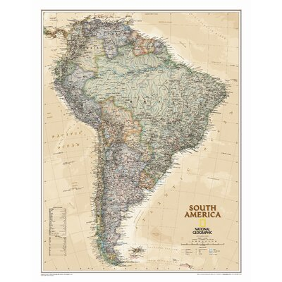 North America Wall Map Laminated (Reference - Continents) National Geographic Maps