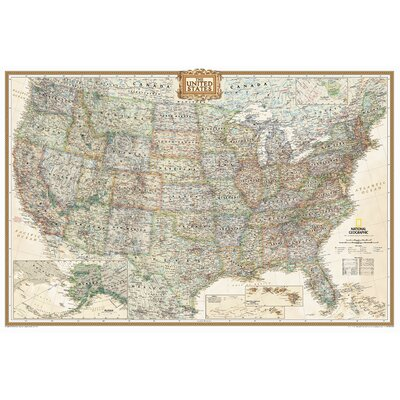 United States Executive Wall Map Map Type: Enlarged (48