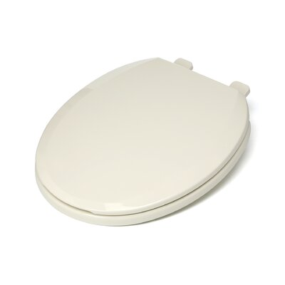Ez Close Standard Plastic Round Toilet Seat Finish: Biscuit