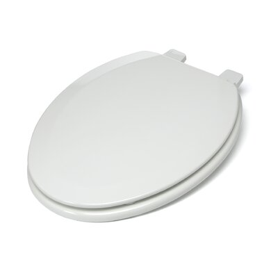 Deluxe Molded Wood Elongated Toilet Seat Finish: White