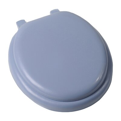 Deluxe Soft Round Toilet Seat Finish: Blue