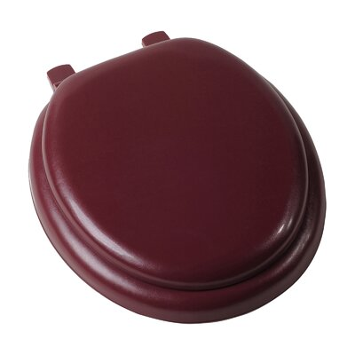 Deluxe Soft Round Toilet Seat Finish: Claret