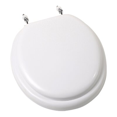 Deluxe Soft Round Toilet Seat Finish: White with Chrome Hinge