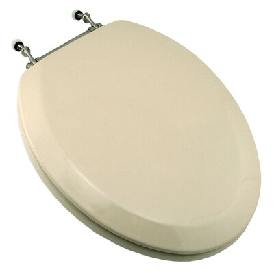 Deluxe Molded Elongated Toilet Seat Finish: White, Hinge Finish: Chrome