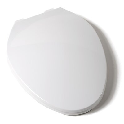 Deluxe Plastic Contemporary Elongated Toilet Seat Finish: White