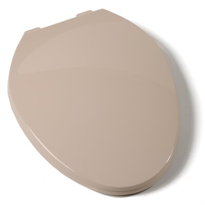 Deluxe Plastic Contemporary Elongated Toilet Seat Finish: Biscuit