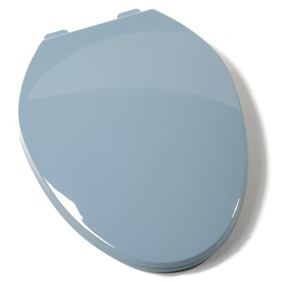 Deluxe Plastic Contemporary Elongated Toilet Seat Finish: Regency Blue