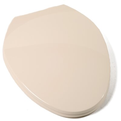 Deluxe Plastic Contemporary Elongated Toilet Seat Finish: Bone