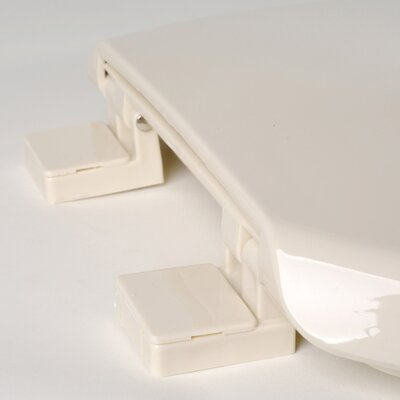 Deluxe Plastic Euro Design Elongated Toilet Seat Finish: Bone
