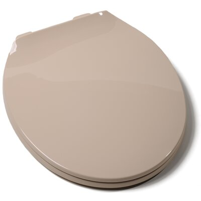 Deluxe Plastic Contemporary Round Toilet Seat Finish: Biscuit