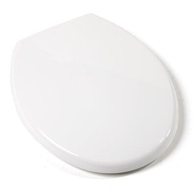 Deluxe Plastic Euro Design Round Toilet Seat Finish: White