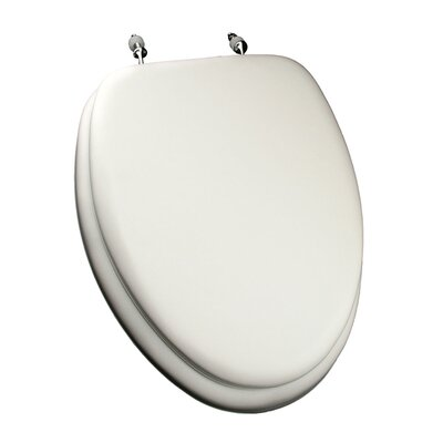 Deluxe Soft Elongated Toilet Seat Finish: White, Hinge Finish: Chrome