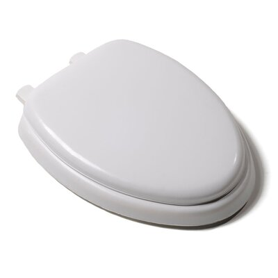Deluxe Soft Elongated Toilet Seat Finish: White, Hinge Finish: Plastic