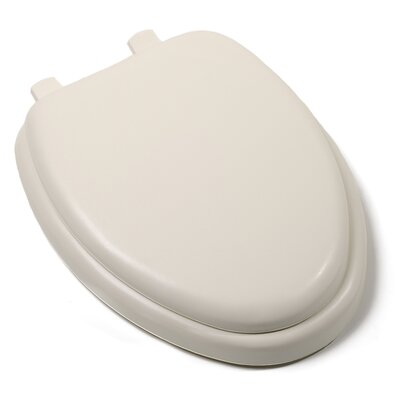 Deluxe Soft Elongated Toilet Seat Finish: Bone, Hinge Finish: Plastic