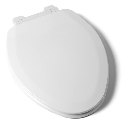 EZ Close Deluxe  Molded Wood Elongated Toilet Seat Finish: White