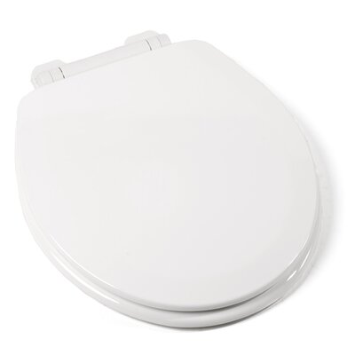 EZ Close Deluxe Molded Wood Round Toilet Seat Finish: White