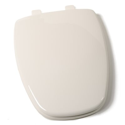 EZ Close Premium Eljer New Emblem Design Plastic Elongated Toilet Seat Finish: Bone