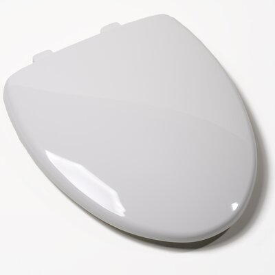 EZ Close Premium Plastic Elongated Toilet Seat Finish: White