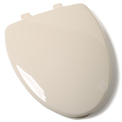EZ Close Premium Plastic Elongated Toilet Seat Finish: Biscuit