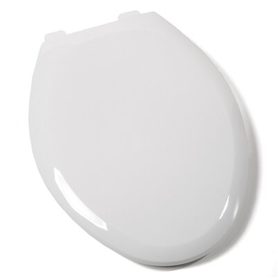 Premium Plastic Elongated Toilet Seat Finish: White