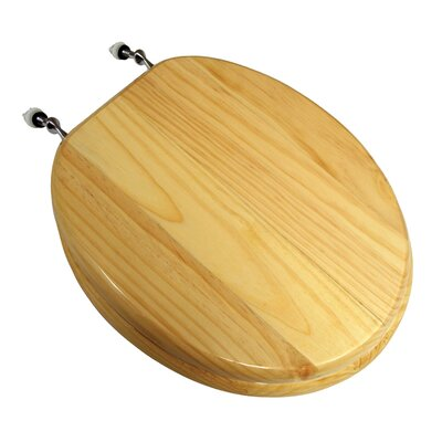 Natural Pine Wood Round Toilet Seat