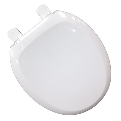 EZ Close N Clean Premium Plastic Round Toilet Seat
