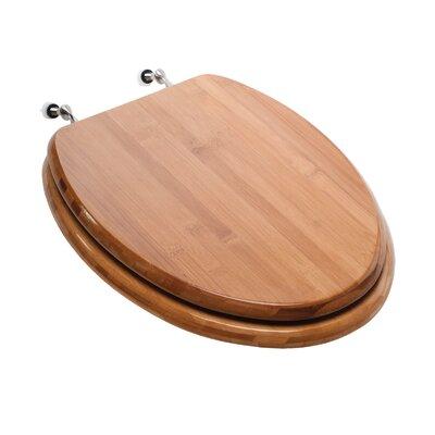 Premium Piano Wood Elongated Toilet Seat Finish: Rattan Bamboo