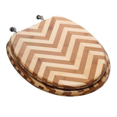 Premium Piano Wood Elongated Toilet Seat Finish: Zebra Bamboo