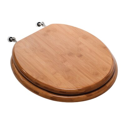 Premium Piano Wood Round Toilet Seat Finish: Rattan Bamboo