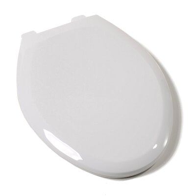 Ez Close Premium Plastic Elongated Toilet Seat Hinge Finish: Plastic, Finish: White