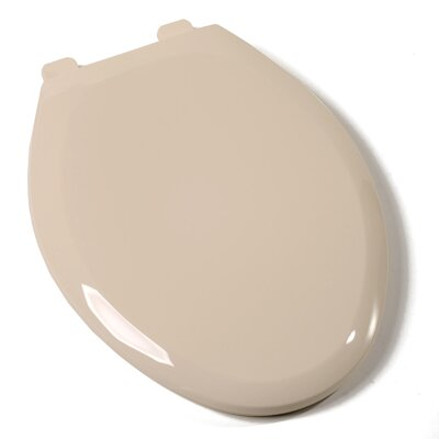 Ez Close Premium Plastic Elongated Toilet Seat Finish: Harvest Gold, Hinge Finish: Plastic