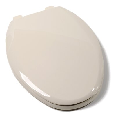 EZ Close Standard Plastic Elongated Toilet Seat Finish: Bone
