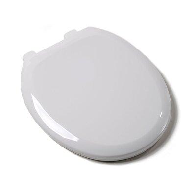 Premium Plastic Round Toilet Seat Finish: White