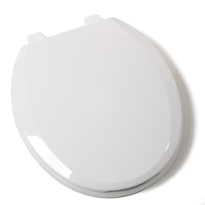 Ez Close Standard Plastic Round Toilet Seat Finish: White