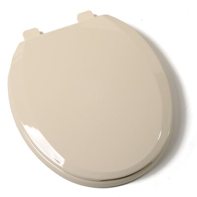 Ez Close Standard Plastic Round Toilet Seat Finish: Bone